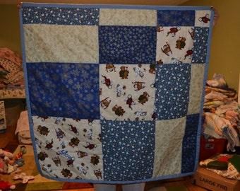 homemade christmas quilt