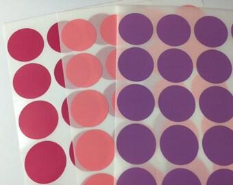 3cm Round Paper Seal Stickers - Set of 64 Stickers - 3cm Round Circle Sticker/ Envelope Seals