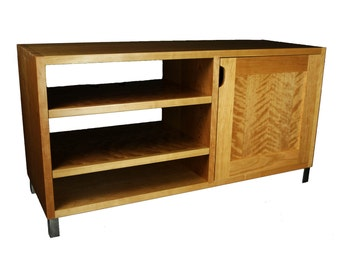 Gerton Short TV Stand / Media Cabinet / Credenza / Record Storage / Media Console / Mid Century Stand / Modern Stand in Cherry