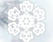 Star Wars Snowflake Window Cling Decals: Set #2