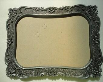 Vintage Embossed Silver Metal Frame