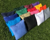 FREE SHIPPING! Premium Solid Color Corn Filled Cornhole Toss Bags with String Tote Bag