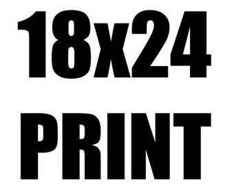 18x24 Neon Rocketeers Art Print