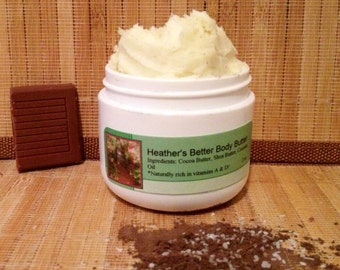 Natural Cocoa-Shea Body Butter/PARABEN/PRESERVATIVE-FREE (Pick your scent!)