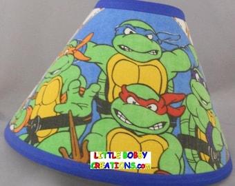 Nickelodeon Teenage Mutant Ninja Turtles Fabric Lamp Shade (10 Sizes To  Choose From)