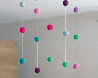 Felt Ball Mobile - Purple