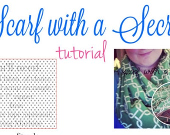 Scarf with a Secret- Hidden Pocket Infinity Scarf Tutorial