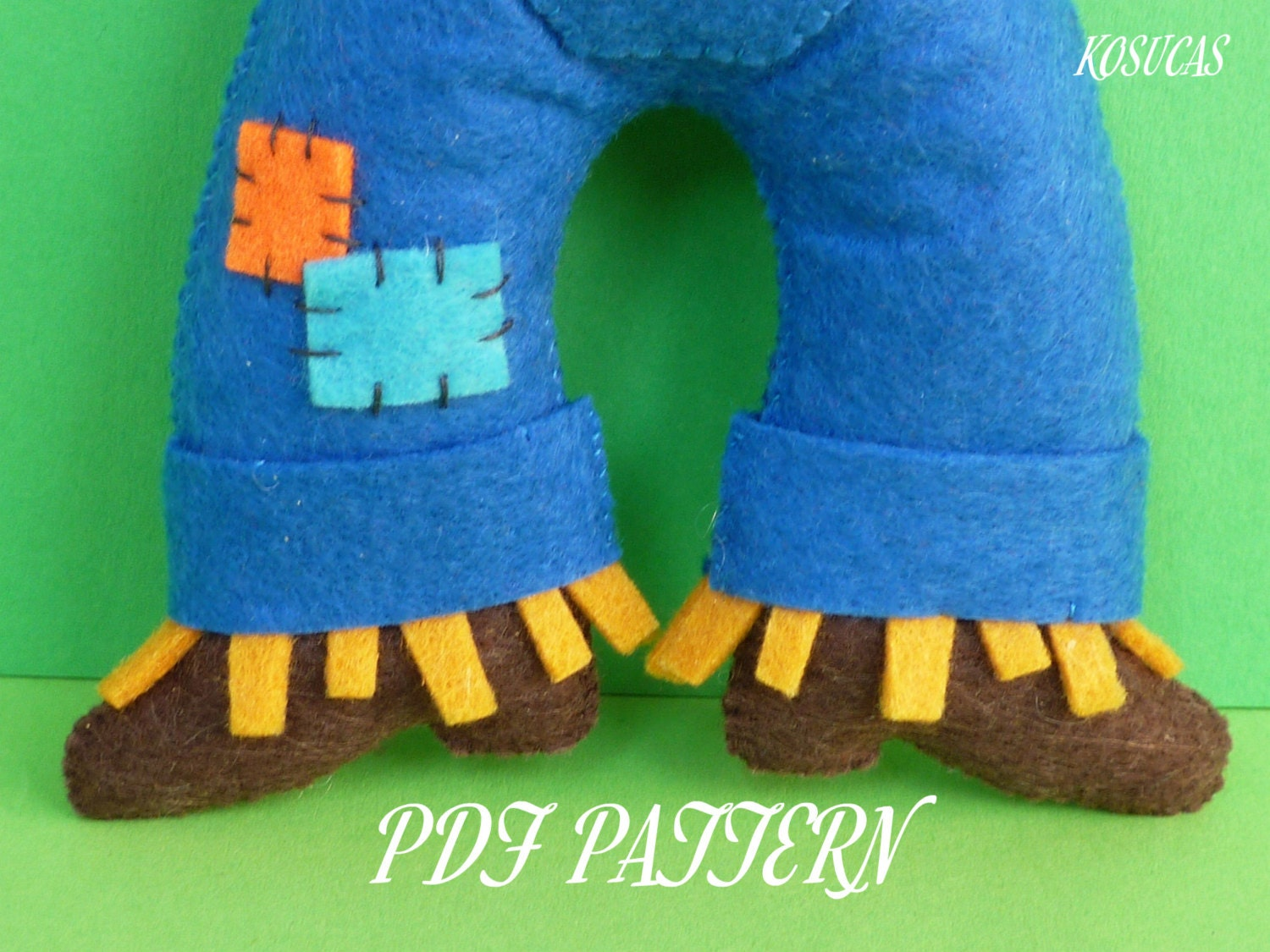 how to make a felt scarecrow hat
