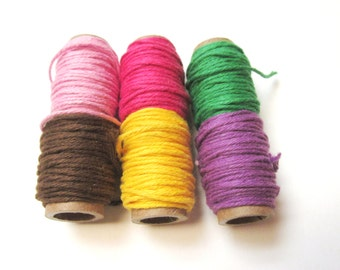 2 Colors Pack Solid Bakers Twine - 2 colors you pick the color combination - 2 colors 5 yards of each color