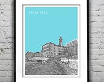Salts Mill Saltaire England UK Poster Art Print