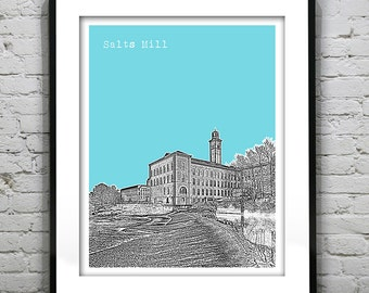 Presidents Day Sale 15% Off - Salts Mill Saltaire England UK Poster Art Print