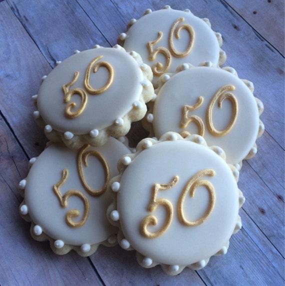 Items Similar To 50th Anniversary Monogram Sugar Cookies