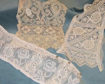 Vintage Assorted Handmade Lace Panels