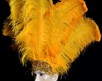 Headdress Ostrich Carnival Costume