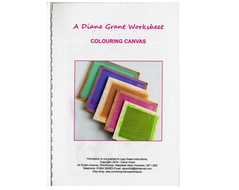 INSTRUCTION SHEET Colouring Canvas for Needlepoint or Canvas work