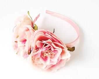 Pink Peonies Headband