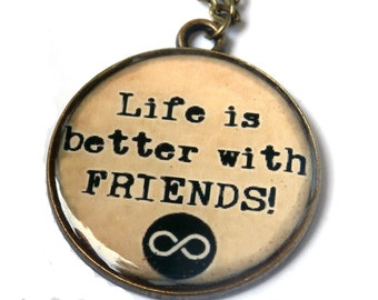 BEST FRIEND Jewelry - Quote necklace - Best friend gift - BFF - Best friend necklace - Bridesmaid - Friendship