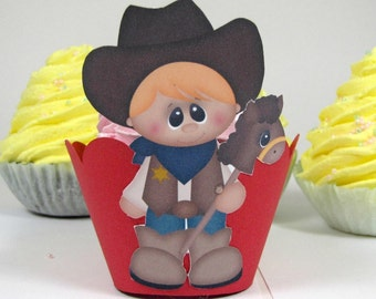 Cowboy themed cupcake wrappers