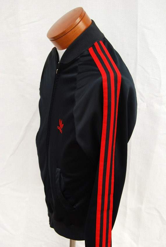 White Adidas Jacket With Black Stripes