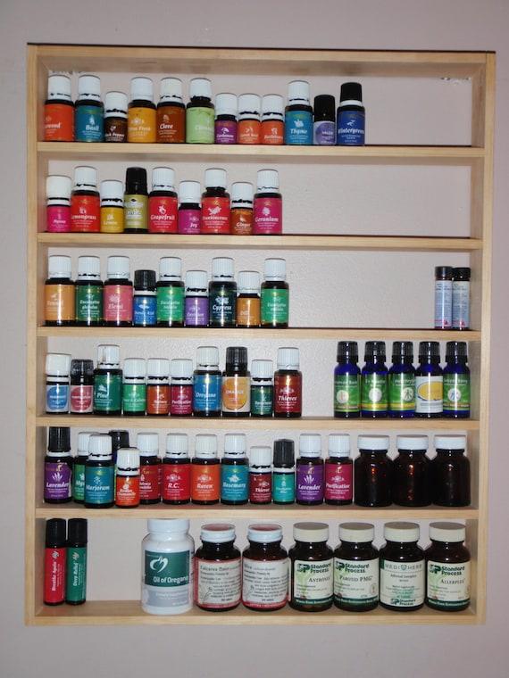 Essential Oil Wood Shelf Rack Storage Display Wall Young