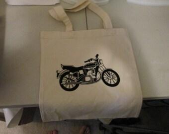 Motorcycle Canvas Totebag