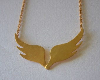 Wings necklace / gold plated