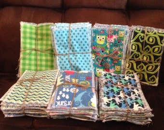 Cloth wipes/ wash cloth mix lots , two different sizes,