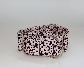 Light Pink Daisy Martingale Dog Collar