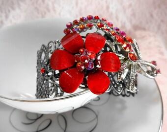 Flower Cuff Bracelet Clearance