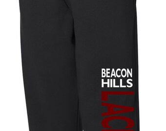 Teen Wolf Beacon Hills Lacrosse Black Loose-FItting Sweatpants - Run BIG