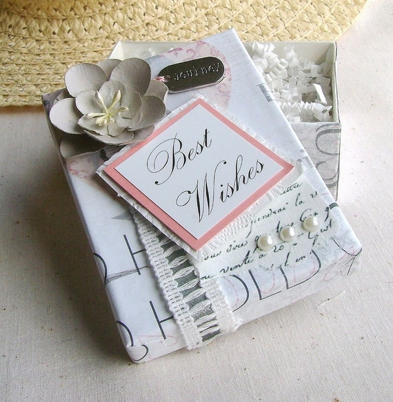 Pre Wedding Gifts: Wedding Gift Box Best Wishes Pre Wrapped By Designedbymarylou