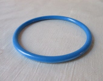 1960s American Unsigned Blue Plastic Bangle/Bracelet. Sweet 16 Gift,Quinceanera Gift.Get Well Gift,Thank You Gift, Mothers Day Gift