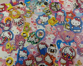 GRAB Bag: 60 pcs Sanrio HELLO KITTY Flake Stickers Sack My Melody Little Twin Stars Cute Party Favor Embellishment confetti Gift girl