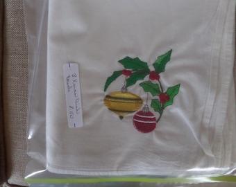 Machine embroidered dish towels