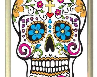 Sugar Skull Fridge Magnet 7cm by 4.5cm, Candy Skull