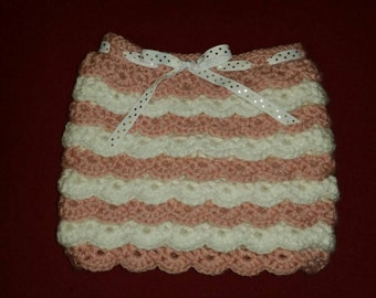 Crochet Ruffle Skirt for Baby/Toddler sizes 0-3 months to 5T