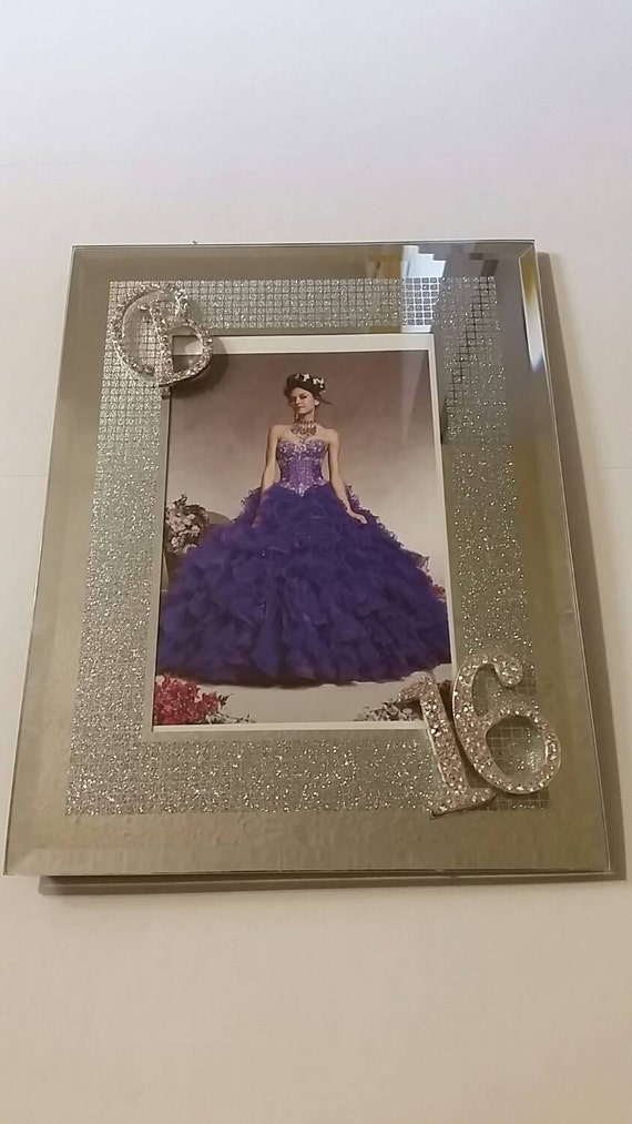 Items Similar To Photo Frame Blinged Out Sweet 16 Frame