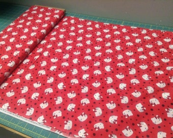 Hello Kitty Polka Dot fabric from Springs Creative 100% cotton by the yard