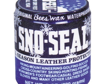 Original SNO-SEAL BeesWax Snow Leather Protectant Conditioner waterproof seal protect water proof leather Boot Shoe SnowSeal ATSKO 1330