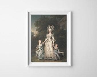 "18"" x 26"" - Vintage Art, Large Print of Queen Marie Antoinette"