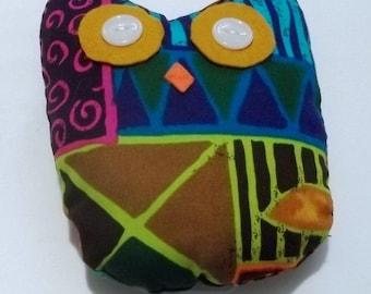 Stuffed owl tribal pattern