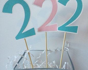 Number Table Decorations