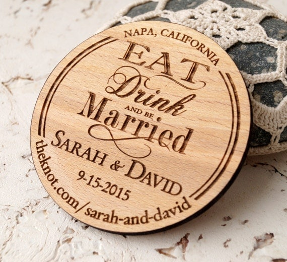Wooden Save The Date Magnet Wood Wedding Save The Dates Magnets | eBay