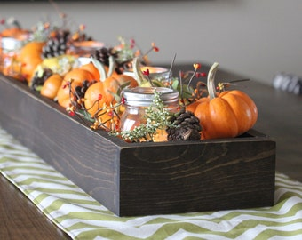 "Wood Table Centerpiece or Window Box, 36"" long, 8"" wide"