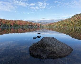 Heart Lake - Adirondack Loj - Foliage - Photography Print