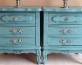 Pair of Vintage French provincial night stands in  Annie Sloan Provence chalk paint