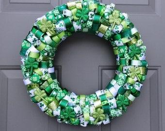 St. Patrick's Day Ribbon Wreath