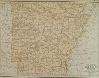 Fayetteville Map Art Etsy - Us map from texarkana to grand canyon