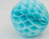 Honeycomb Ball Blue 8 inch | Honeycomb Decoration | Wedding Backdrop| Shower Decoration| Tissue Paper Pom Pom| Nursery Decor |Wedding Decor