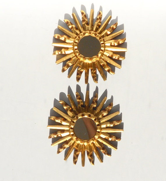 4sunburst mirrorsset of 2small sunburst mirrorsround - Small Decorative Mirrors